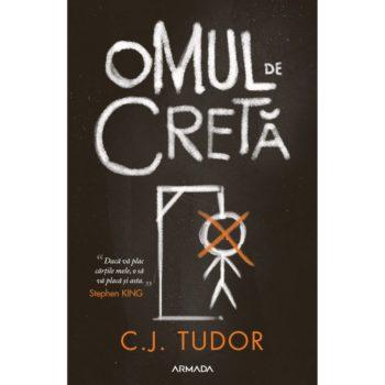 """Coperta carte """"Omul de cretă"""", scrisă de autoarea C.J. Tudor"""